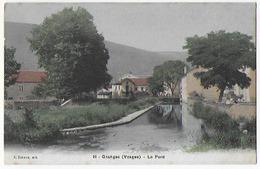 Cpa Bon Etat  Granges , Le Pont , Courrier Au Verso , Carte Rare ,  Colorisée - Autres Communes