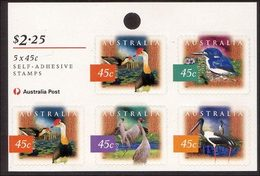 1997 - Australian Nature Of Australia WETLANDS 5*45c Self Adhesive Sheetlet Stamps MNH - Blocks & Sheetlets