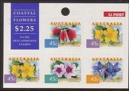 1999 - Australian Nature Of Australia COASTAL FLOWERS 5*45c Self Adhesive Sheetlet Stamps MNH - Blocks & Sheetlets