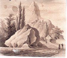Lavis.. 12,3  X  10,5  Cm.1832.un Nom Au Dos Du Lavis Et Une Date. - Other Collections