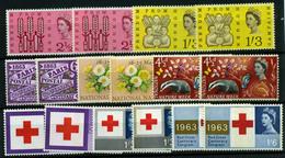 2879- Gran Bretaña Nº 378/80A, 370/74A - 1952-.... (Elizabeth II)