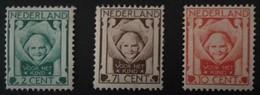 1924 Kinderzegels  NVPH 141-143*) - Periode 1891-1948 (Wilhelmina)
