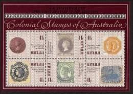 1990 - Australian COLONIAL AUSTRALIA Minisheet Minature Sheet MNH - Blocks & Sheetlets