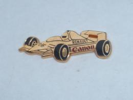 Pin's FORMULE 1 RENAULT OR, SPONSOR ELF/CANON, Signe DRAGO - Renault