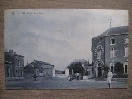 Cpa Visé - La Place De La Gare - Station - SBP - Grand Hotel Voitures De Louage - 1907 - Edit. Martin Soeur Visé - Visé