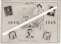 MIECRET Prés Havelange Et Méan. N'oublions Jamais! 1940-45. - België