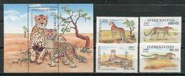 Uzbekistan 2007 / Fauna Mammals Big Cats Cheetahs MNH Mamíferos Felinos Säugetiere / Cu8225  30-3 - Felinos