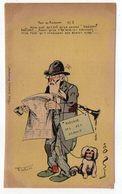 Illustrateur  NORWINS  - Humour--Tout Au Radium-- Aveugle ,chien,journal - Norwins