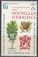 Nouvelles Hebrides 1971 Michel 310 Neuf ** Cote (2005) 1.60 Euro Arbre Agathis Et Armoirie - Légende Française