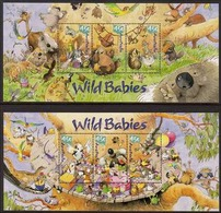 2001 - Australian WILD BABIES (2) Minisheet Minature Sheet Stamps MNH - Blocks & Sheetlets