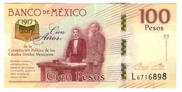 Mexico 100 Pesos 2017 Commemorative UNC - Messico