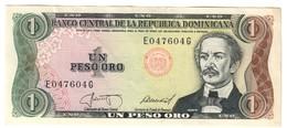 Dominican Republic 1 Peso 1987 AUNC - Dominicana