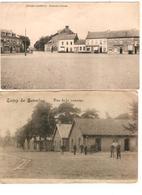 Belgique-België 2 CP Camp De Beverloo Et Place Des Princes 1919 & 1922 V.Braine L'Alleud Et Ekeren-Donk  JS263 - Leopoldsburg (Camp De Beverloo)