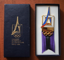 OLYMPIC CONGRESS CONGRES OLYMPIQUE DU CENTENAIRE PARIS 1994 - Olympische Spelen