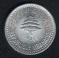 Libanon, 5 Piastres 1954, AUNC - Lebanon