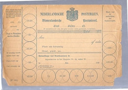 Binnenlandse Postwissel Rond 1900 Poor Condition But RARE (CR-32) - Nederlands-Indië