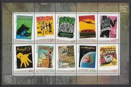 2006 - Australian ROCK POSTERS Sheetlet MNH - Blocks & Sheetlets