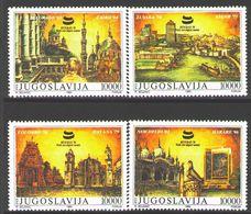 Yugoslavia 1989 Non Aligned Movement Summit Belgrade Countries Architecture Places Stamps MNH Sc1 980-83 Mi 2369-72 - Other