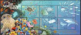1995 - Australian World DOWN UNDER Minisheet Minature Sheet Stamps MNH Overprinted MELBOURNE - Blocks & Sheetlets