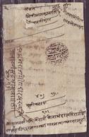 "India-Jaipur State Samvat 1996 ""Roznama"" Daily Report Document #DPC63B - Old Paper"