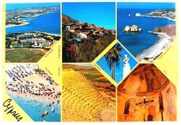 #299  Views Of CYPRUS - Aphrodite's Island - Used Postcard 1992 - Cyprus