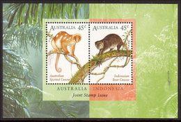 1996 - Australian Cuscus INDONESIA Joint Issue Minisheet Minature Sheet MNH - Blocks & Sheetlets