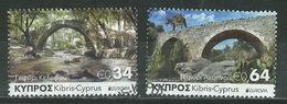 CYPRUS 2018 '' EUROPA CEPT '' BRIDGES SET USED - Cyprus (Republic)