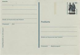 Postkarte Ganzsache Deutsche Bundespost Post Briefmarke 100 Pfennig 1 DM Mark Goethe Schiller Denkmal Weimar - BRD