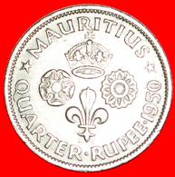 √ GREAT BRITAIN: MAURITIUS ★ 1/4 RUPEE 1950! LOW START ★ NO RESERVE! - Mauritius