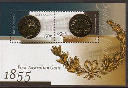 2005 - Australian FIRST COIN Minisheet Minature Sheet MNH - Blocks & Sheetlets