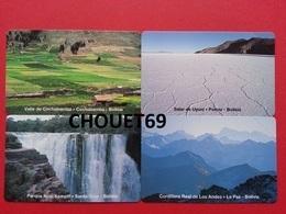 BOLIVIE 4 Cards 5+10+20+50 Bs Cochabamba Salt Pans Uyuni Noel Kemplf Park Cordillera Real Andes MINT URMET Neuve - Bolivie