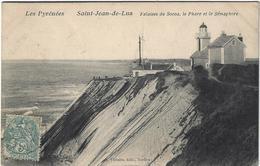 Saint Jean De Luz Falaises Du Socoa Le Phare Et Le Semaphore Circulee En 1906 - Saint Jean De Luz