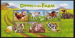 2005 - Australian DOWN ON THE FARM Minisheet Minature Sheet MNH - Blocks & Sheetlets