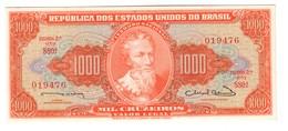 Brazil 1000 Cruzeiros 1963 UNC - Brazil