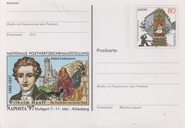 Postkarte Ganzsache Deutsche Bundespost Post Briefmarke 80 Pfennig DM Postwertzeichenausstellung Naposta Stuttgart 1997 - BRD