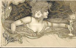 Femme Art Nouveau - Raphael - Tuck Série 123 - Un Mot à La Poste - Tuck, Raphael