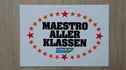 Aufkleber Mit Auto-Werbung Und Darstellung Von Sternen (Austin Rover; Deutschland) - Aufkleber