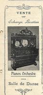 Facture Lettre / NORD / BOURGHELLES / DELBASSEE Frères / Vente Transports De Pianos Orchestre / 1912 - 1900 – 1949