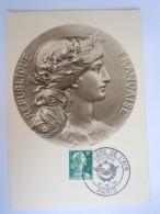France 1958 Marianne Cachet Ministère De L'air 1928-1958 PARIS Yv 1011Aa - Stamps (pictures)