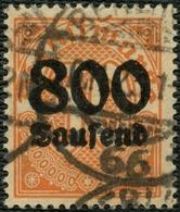DT.REICH DIENST 1923, Nr. 95y, 800 TSD.M. GESTEMPELT, FOTOBEFUND BPP, Mi. 400,- - Service