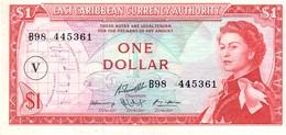East Caribbean States P.15v 1 Dollar 1965 V Unc - Caraibi Orientale