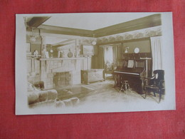 RPPC Interior Home With Fireplace & Piano      Ref 2975 - Postcards