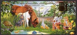 1996 - Australian PETS Minisheet Minature Sheet MNH Overprint HONG KONG - Blocks & Sheetlets