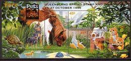 1996 - Australian PETS Minisheet Minature Sheet MNH Overprint QUEENSLAND - Blocks & Sheetlets