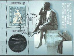"""Suisse 2004: """"sitzende Helvetia Assise""""  Zu 1129 Mi Block 36 Yv BF 36 ET-o BERN 7.9.04 (faciale -50%) - Briefmarken Auf Briefmarken"""