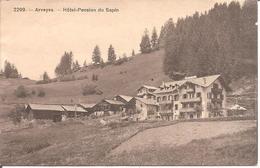 SUISSE - ARVEYES (Vaud-VD) Hôtel-Pension Du Sapin  (Cartes Pas Courante) - VD Vaud
