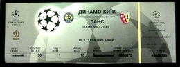Football Tickets -  F.C. DYNAMO  Kiyv  V   RACING  CLUB  DE  LANS , 1998 , EURO - CUP. - Tickets - Entradas