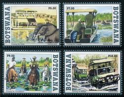 Botswana 2017 - Jeep, éléphants, Chevaux, Rivières Du Botswana - 4 Val Neufs // Mnh - Botswana (1966-...)
