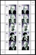 2002 - Australian Legends MEDICAL SCIENTISTS Sheetlet Stamps MNH - Blocks & Sheetlets