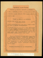 RECLAME BILJET AANKONDIGING PATTIST VLUCHT VERTREK BATAVIA - SEMARANG - SOERABAJA    (11.145p) - Airplanes